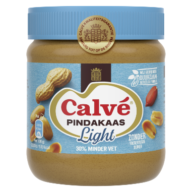 Calve Pindakaas Light 350 g 8711200429004 w transparent background