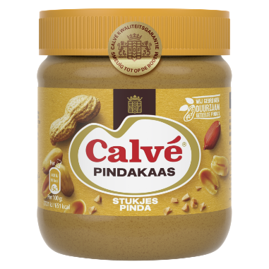 Calve Pindakaas Pinda 350 g 8711200430925 w transparent background