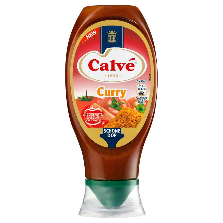 Calve Squeeze Saus Curry 430 ml